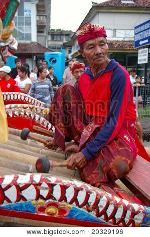 Balinese Gamelan Player