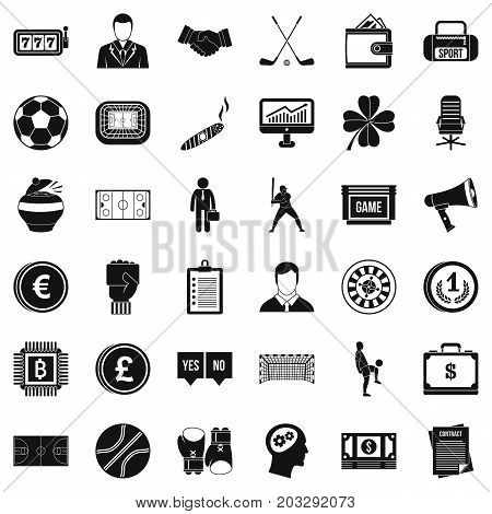 Gambling icons set. Simple style of 36 gambling vector icons for web isolated on white background