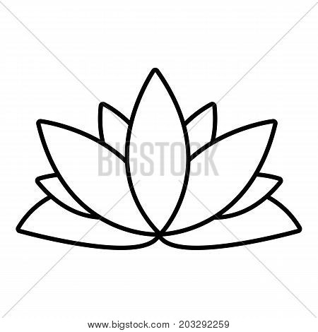 Lotus flower icon. Outline illustration of lotus flower vector icon for web design isolated on white background