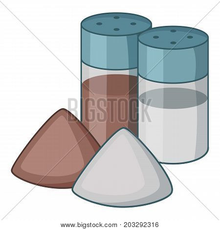 Salt pepper shaker icon. Cartoon illustration of salt pepper shaker vector icon for web