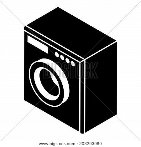Washing machine icon. Simple illustration of washing machine vector icon for web design isolated on white background