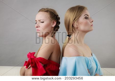 Two Women Being Mad At Each Other