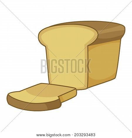 Bread icon. Cartoon illustration of bread vector icon for web