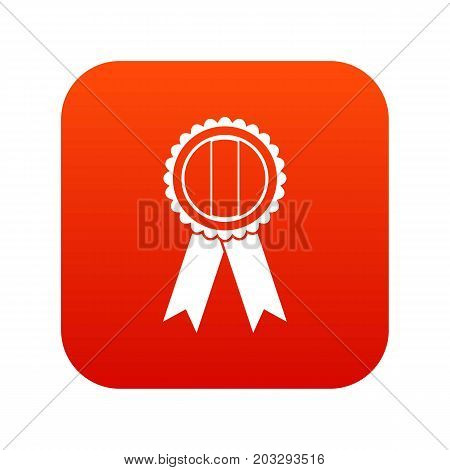 Rosette icon digital red for any design isolated on white vector illustration