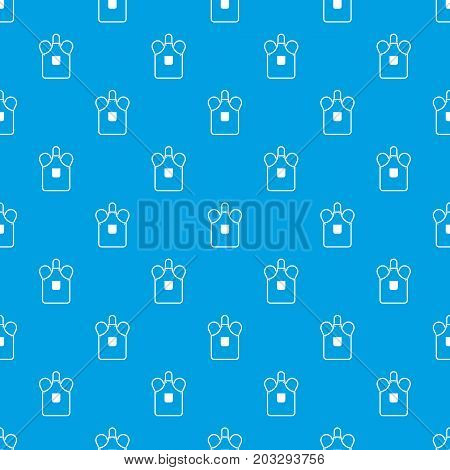 Blacksmiths apron pattern repeat seamless in blue color for any design. Vector geometric illustration