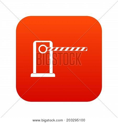 Parking entrance icon digital red for any design isolated on white vector illustration