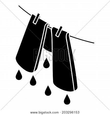 Pants drying icon. Simple illustration of pants drying vector icon for web design isolated on white background