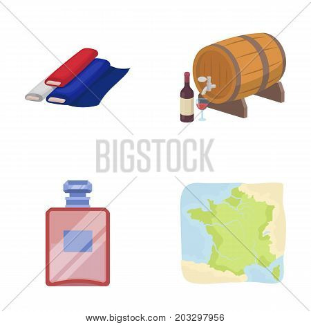 France, country, nation, national .France country set collection icons in cartoon style vector symbol stock illustration .