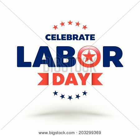 Celebrate labor day badge for illustration Labor day advertising.