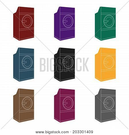 Industrial washing machine. Dry cleaning single icon in black style vector symbol stock illustration .