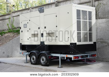 Industrial Backup Generator for Office Building in hurricane weather