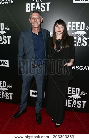 NEW YORK - MAY 23: Steve Shill (L) and guest attend the AMC's 'Feed The Beast' premiere on May 23, 2016 in New York City.