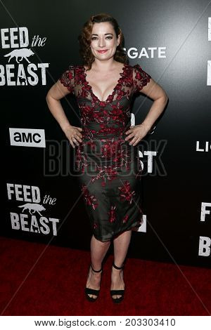 NEW YORK - MAY 23: Laura Michelle Kelly attends the AMC's 'Feed The Beast' premiere on May 23, 2016 in New York City.
