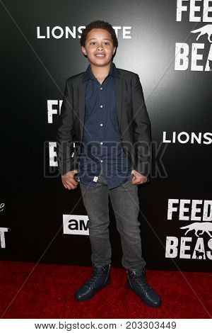 NEW YORK - MAY 23: Elijah Jacob attends the AMC's 'Feed The Beast' premiere on May 23, 2016 in New York City.