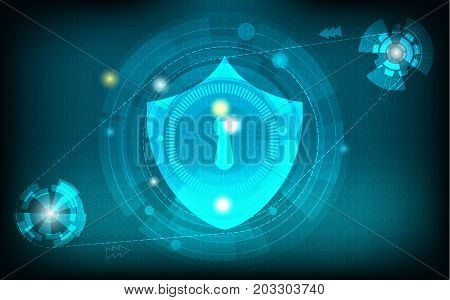 abstract network security technology background vector illustration