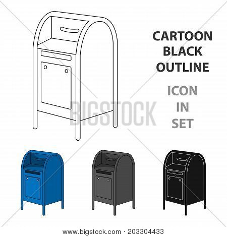 Mailbox.Mail and postman single icon in cartoon style vector symbol stock illustration .