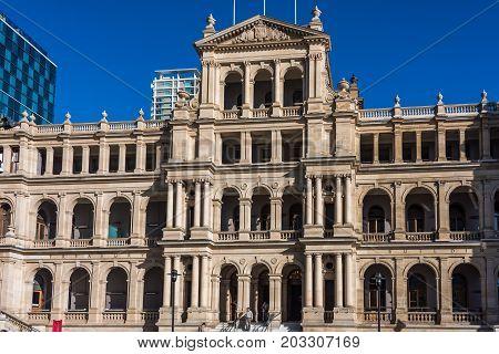 Treasury Casino And Hotel Building On Sunny Day