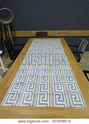Tiled Oblong Table Top