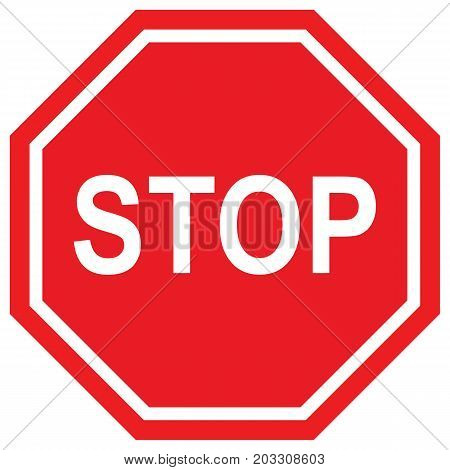 Stop Sign Vector Road Sign Illustration Safety Police Force Road Symbol Traffic