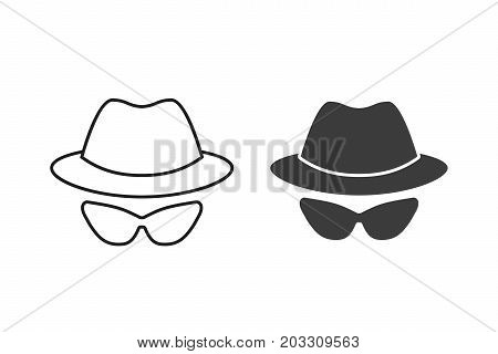 Anonymous vector icon. Black illustration isolated on white background for graphic and web design.