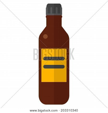 Bottle with iodine vector illustration. Flat style design. Colorful graphics