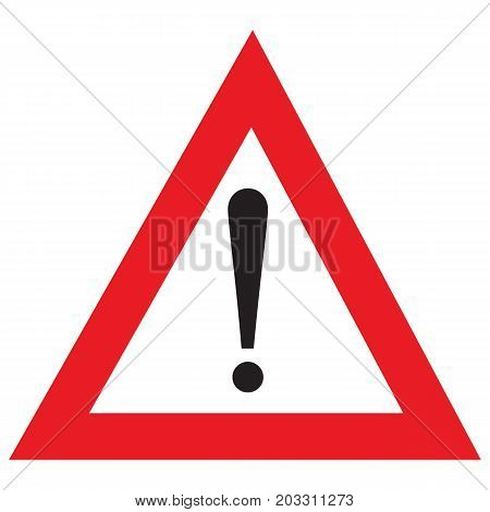 Red warning exclamation point sign Warning Sign Danger Icon