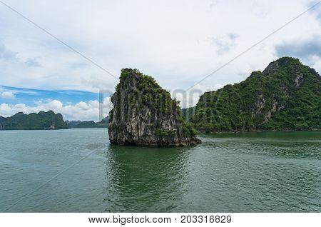 Halong Bay Landscape With Karst Islands