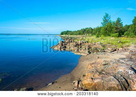 Rocky Shore Of The White Sea.