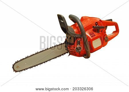 a chainsaw isolated on a white background