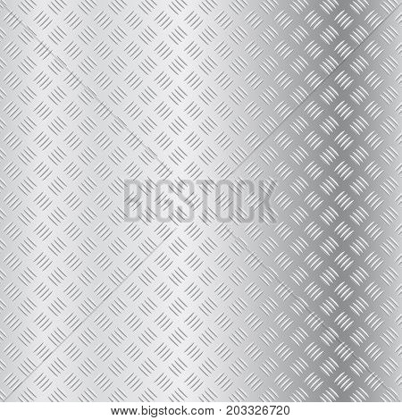 Non slip surface. Metallic background. Vector 3d illustration