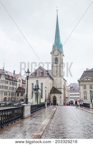 Zurich, Switzerland. Fraumunster Church