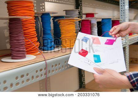 Beautiful Elegant Designer Holding Design Color