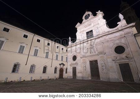 Parma (Emilia Romagna Italy): the church of San Giovanni Battista at evening