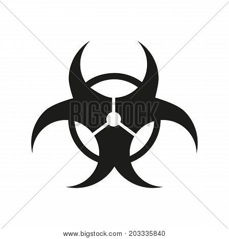 Icon of biohazard symbol. Poison, danger, sign. Ecology concept. Can be used for topics like warning, laboratory, chemistry