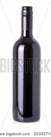 Wine bottle isolated on white background .