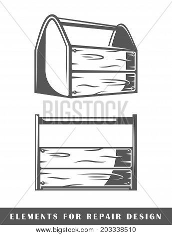 Toolbox isolated on white background. Element for design. Vector illustration