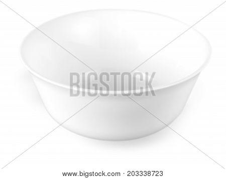 white ceramic bowl isolated on white background