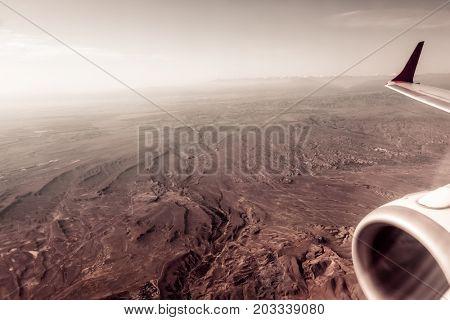 Aerial snow mountain