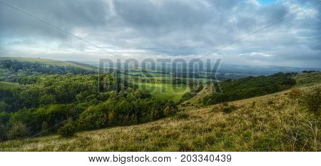View from Old Winchester Hill, Warnford Hampshire UK