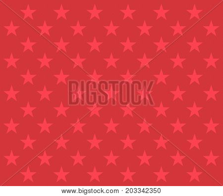 Repeating red stars pattern on a textured red background