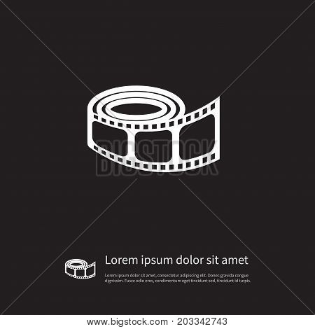 Movie Vector Element Can Be Used For Movie, Reel, Filmstrip Design Concept.  Isolated Reel Icon.