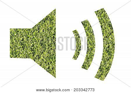 Sign sound natural background of grasses protection of nature