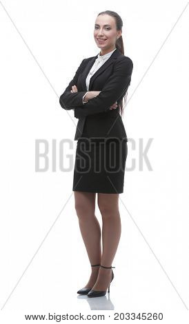 in full growth. confident female office Manager