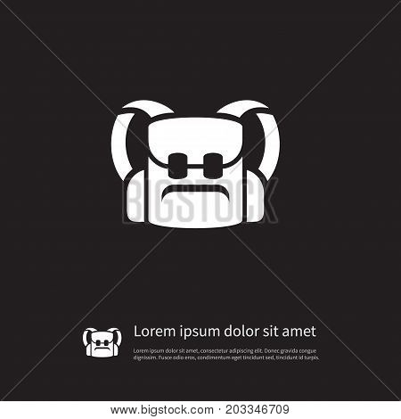 Schoolbag Vector Element Can Be Used For Knapsack, Bag, Backpack Design Concept.  Isolated Knapsack Icon.