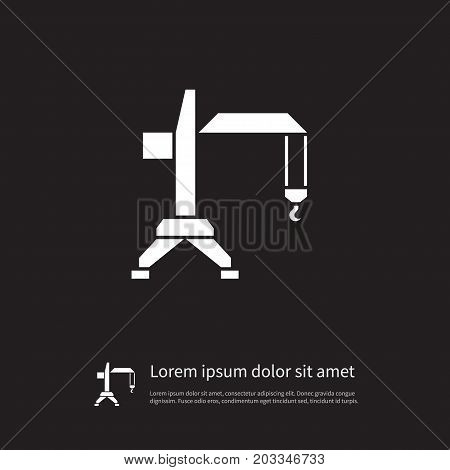 Bibcock Vector Element Can Be Used For Crane, Lift, Bibcock Design Concept.  Isolated Crane Icon.