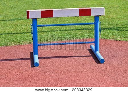 Gate of the hurdling race athletics outdoor