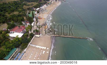 aerial view of Otrada beach in Odessa