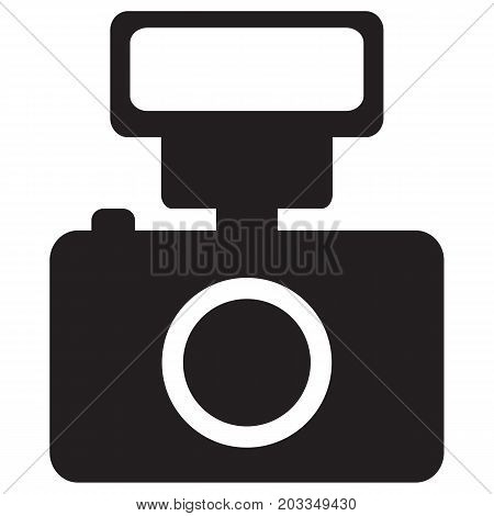 Camera and Flash Icon Camera Photographic Equipment Horizontal