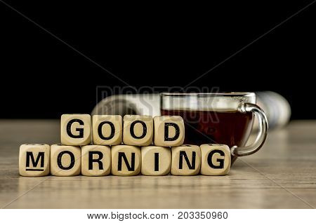 Good Morning With Coffee And Newspaper
