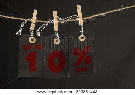 10 Percent Discount Label